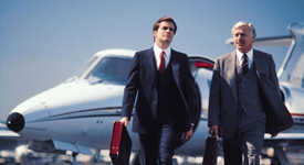 Business Men Flying