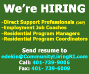 Community Living RI - We're Hiring