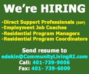 Community Living RI - We're Hiring