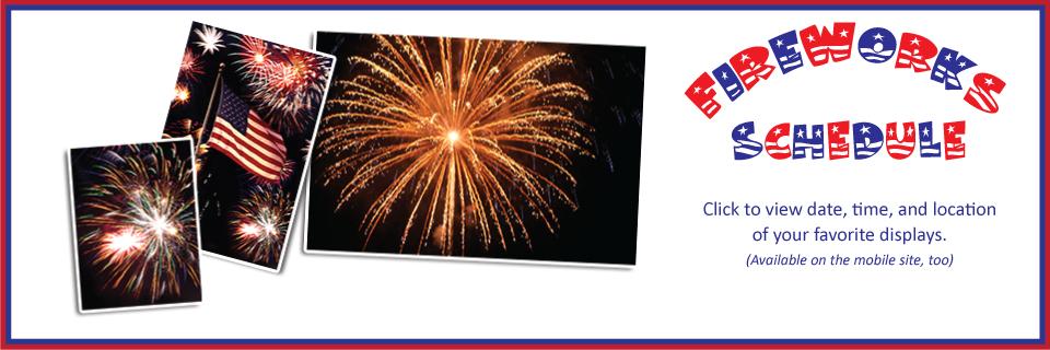 Fireworks Schedule