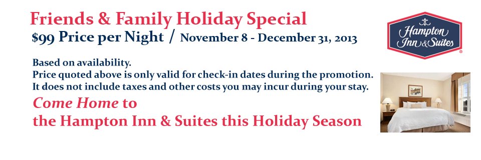 Hampton Inn Friends & Family Holiday Special