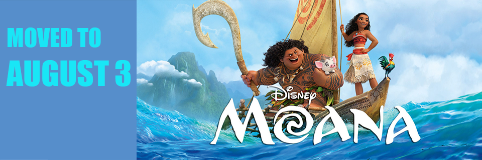 Movies in the Park -Moana postponed