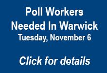Poll Workers Needed in Warwick RI