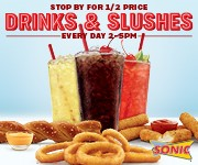 Tasty Sonic Drinks & Slushes