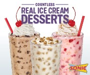 Tasty Sonic Ice Cream Shakes
