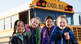 Students with School Bus